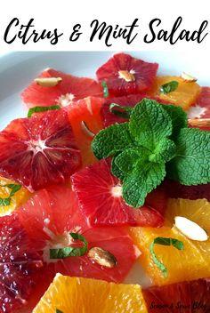 Citrus & Mint Salad | Breakfast Recipes | Season & Serve Blog Mint Salad, Grapefruit, Breakfast Recipes, Berries, Brunch, Strawberry, Tasty, Healthy Recipes, Seasons