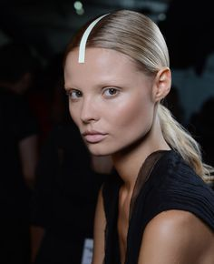 NYFW Spring 2013 Trends: How To Get A Flawless Makeup Look, Natural Brows With NARS Cosmetics - Alexander Wang Show