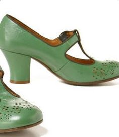 Sea green Mary Jane pumps