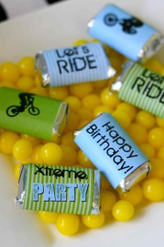 DIY BMX Party Package by LaurenHaddoxDesigns on Etsy,