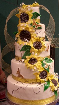 Sunflower Wedding Cakes - for Glorfindel and Ecthelion's wedding