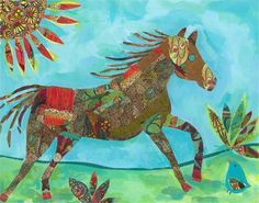 Colorful Pony Ride Art Print