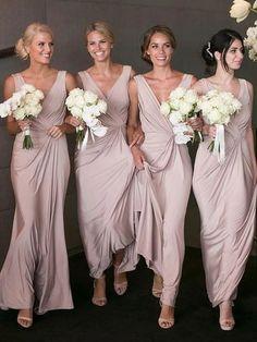 A-Line V-neck Floor-Length chiffon sleeveless cheap simple long Bridesmaid Dresses, BD0433#bridesmaids #bridesmaiddress #bridesmaiddresses #dressesformaidofhonor #weddingparty #2020bridesmaiddresses Dusty Pink Bridesmaid Dresses, Bridesmaid Dresses Online, Wedding Bridesmaids, Pink Lace Tops, Satin Dresses, Pleated Dresses, Formal Dresses, Prom Dresses, Wedding Party Dresses