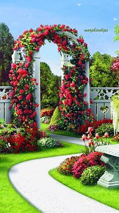 Glorious Enjoy Life With Your Own Flower Garden Beautiful Easy Ideas. Enjoy Life With Your Own Flower Garden Beautiful Easy Ideas. Beautiful Landscape Wallpaper, Beautiful Landscapes, Beautiful Flowers Garden, Beautiful Gardens, Flower Trellis, Garden Trellis, Beautiful Nature Pictures, Garden Landscape Design, Front Yard Landscaping