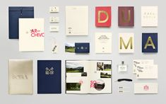 Sofia Branding and Collateral - love the navy, salmon and gold combo
