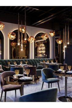 Decoration Restaurant, Deco Restaurant, Luxury Restaurant, Restaurant Concept, Luxury Cafe, Bar Interior Design, Cafe Interior, Cafe Design, Design Design