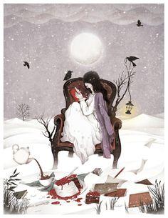 Winter night(2012)  personal work,digital painting, photoshop  illustration bygobugi