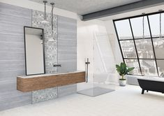 Kolekcja płytek 25x90 Tina Alcove, Oversized Mirror, Bathtub, Bathroom, Furniture, Home Decor, Standing Bath, Washroom, Bathtubs