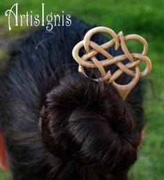 Infinite Love  Celtic Knot work in Loquat Wood Hair by ArtisIgnis, €16.00