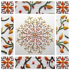 Octoberfest: An Embroidered Kaleidoscope