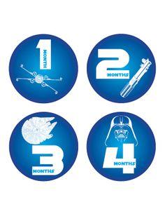 Baby monthly bodysuit sticker,  Star wars baby shower Monthly Onesie Stickers - Months 1-12 - Baby boy clothing