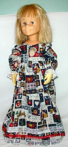 1961 Vintage Mattel Charmin Chatty Blonde Hair Doll With Record -Works