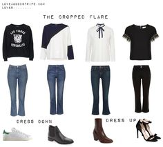 Denim update: the crop flare style sheet - Love a good stripe blog