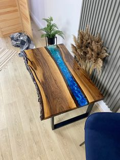 Table Legs, A Table, Dining Table, Wood Slab Table, Poplar Tree, Epoxy Resin Table, Ocean City, Luxury Furniture, Hearth