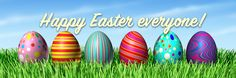 Happy Easter Everyone Easter Monday, Happy Easter Everyone, Easter Banner, Easter Eggs, Holiday, Spring, Vacations, Holidays, Vacation