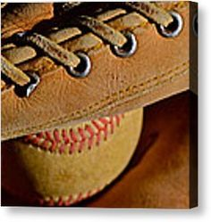 Catcher's Mitt Canvas Print by Bill Owen - In case you miss baseball :)