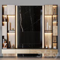 3d models: TV Wall - tv set 108 Home Room Design, House Design, Diy Furniture Arrangement, Modern Tv Wall, Living Room Tv Unit Designs, Tv Wall Design, Modern Interior Design, Home Living Room, Wall Tv