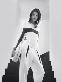 Laura Kampman Poses in Black and White for Sportmax Spring 2013 Campaign