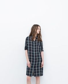 LONG CHECK SHIRT-View all-Tops-WOMAN-SALE | ZARA Israel