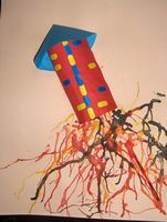 raket: blazen met ecoline How To Make Fireworks, Fireworks Craft, Fireworks Festival, 4th Of July Fireworks, Winter Crafts For Kids, Diy Projects For Kids, School Wide Themes, Fireworks Pictures, Diy Rocket
