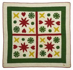 Appliqued crib quilt, late 19th/early 20th c., 49 x 39 in., Freeman's Auctioneers