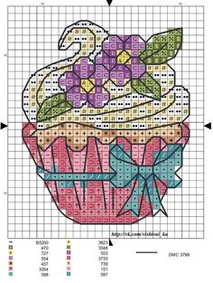 Cross Stitch Cards, Cross Stitch Borders, Cross Stitch Designs, Cross Stitching, Cross Stitch Patterns, Knitting Patterns, Cupcake Cross Stitch, Butterfly Cross Stitch, Fall Birthday