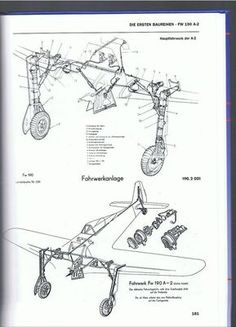 Vintage Aircraft landing gear-anyone direct me to pics of - HyperScale Forums Luftwaffe, Military Aircraft, Ww2 Aircraft, Aviation Engineering, Focke Wulf 190, Airplane Drawing, Airplane Design, Air Fighter, Air Festival