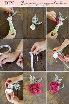 Браслеты и букеты подружкам невесты своими руками