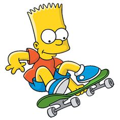 bart simpson skateboarding - Google Search