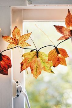 Luzinhas de Halloween feitas com folhas do Outono | Eu Decoro
