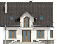 Elewacja tylna projektu Dom Dla Ciebie 3 bez garażu [B] Home Fashion, Mansions, House Styles, Home Decor, Decoration Home, Room Decor, Fancy Houses, Mansion, Manor Houses