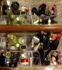Organising Cosmetics  Seen in the mirror too