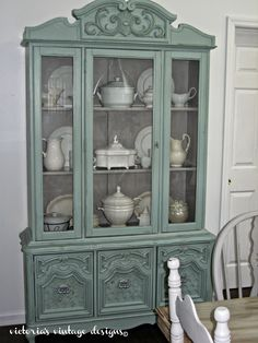 Victoria's Vintage Designs: Beach House China Cabinet