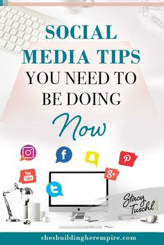 We're talking about social media tips that you have to be doing right now, not 3 months from now or a year from now! Social media happens so fast that you cannot delay or you will simply miss out. Social Media Content, Social Media Tips, Social Networks, Social Media Marketing, Marketing Ideas, Content Marketing, Business Tips, Online Business, Instagram Marketing