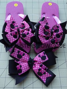 1f7cae3423ac4c Custom flip flop package with matching large bow  20. You customize with  your 2 colors