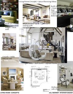 Concept board for living room project.
