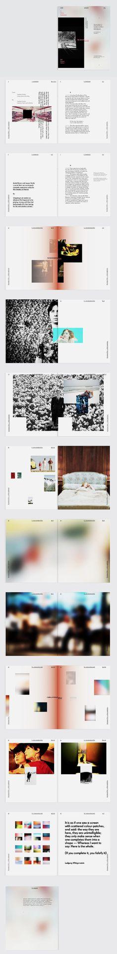 Layout Design: Minimal layout, evident use of text, good balance between photos & texts (https://s-media-cache-ak0.pinimg.com/originals/45/56/0b/45560b300c242911384b2afddab79c37.jpg)
