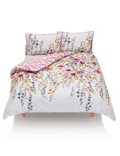 Wild Coast Floral Cotton Bedset - from Marks & Spencers. It's floral without being frumpy. Beautiful, colourful and vibrant! Perfect for a summer bedroom! Cotton Bedding Sets, Comforter Sets, King Sheets, Bed Sheets, Duvet Bedding, Linen Bedding, Bed Linens, Summer Bedroom, Stylish Beds