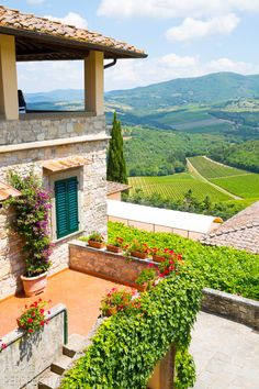 2012 -was right here; what a view. Verazzano  - Tuscany Italy