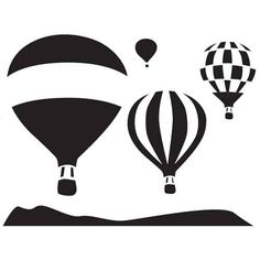 Great stencil designs to enhance your DIY home decorating projects. Stencil Patterns, Stencil Designs, Hot Air Balloon Paper, Balloon Logo, Stencils, Pumkin Carving, Pottery Painting Designs, Pumpkin Stencil, Book Folding Patterns