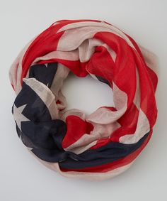 Another great find on #zulily! Bubbly Bows Navy USA Flag Infinity Scarf by Bubbly Bows #zulilyfinds