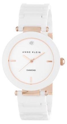 Anne Klein Women's AK/1018RGWT Diamond Dial Rose Gold-Tone White Ceramic Bracelet Watch Anne Klein,http://www.amazon.com/dp/B00AJS0M24/ref=cm_sw_r_pi_dp_qtlSsb1F8M8DVKST I want this one too