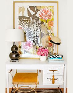 """Easy desk upcycle (""""Into The Wild"""" fine art print by #Cozamia)"""