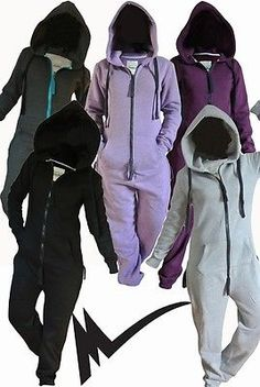 2014 ONESIE adult JUMPSUIT one FLEECE piece hoodie snowboard ski WOMENS MENS in Clothing, Shoes, Accessories, Women's Clothing, Jumpsuits, Rompers & Playsuits | eBay