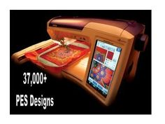 37 000 PES Brother Machine Embroidery Design Library Disc
