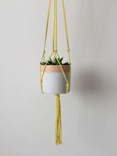 Make it Sewcial... macrame pot hanger – diy craft tutorial - Allison Sadler's blog