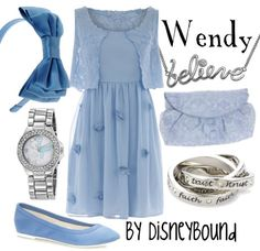 Disney Bound: Wendy from Disney's Peter Pan Cosplay Informal, Pretty Outfits, Cute Outfits, Disney Dress Up, Disney Clothes, Disney Inspired Fashion, Disney Fashion, Estilo Disney, Character Inspired Outfits
