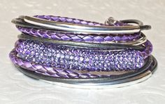 Purple Crystal Pave Swarovski Crystal Purple & by DesignsByJen1