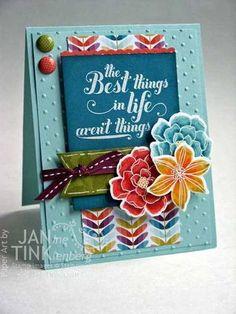 Secret Garden, Feel Goods stamp sets. Card by JanTink. FabFri11 Sketch