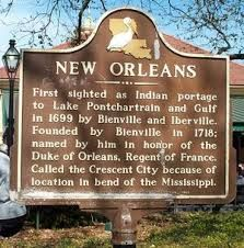 New Orleans - historical plaque